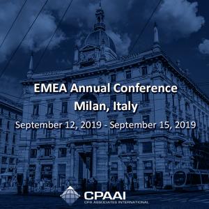 EMEA Annual Conference – #Milan, #Italy September 12, 2019 – September 15, 2019