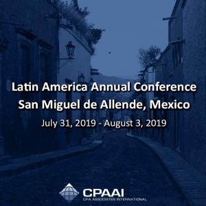 Latin America Annual Conference – San Miguel de Allende, #México July 31, 2019 -…